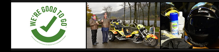Unusual gift vouchers for trike tours in Scotland